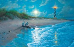 Moonlit Cove Seascape / Coastal Living Jigsaw Puzzle