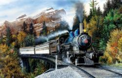 Autumn Mist Trains Jigsaw Puzzle