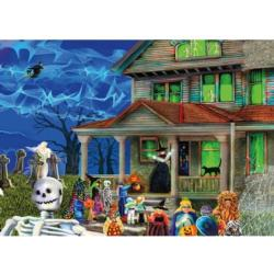 Halloween Hostess Cartoons Jigsaw Puzzle