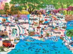 Gulf Coast - Scratch and Dent Geography Jigsaw Puzzle