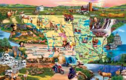 Badlands and Sky Waters Geography Jigsaw Puzzle