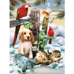 Winter Warmth Collage Jigsaw Puzzle