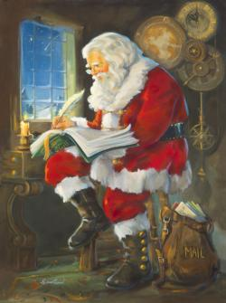 Santa's Book of Children Santa Jigsaw Puzzle