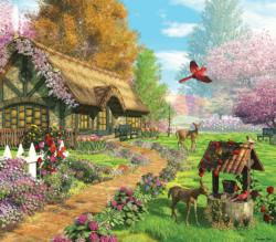 Peaceful Retreat Cottage/Cabin Jigsaw Puzzle