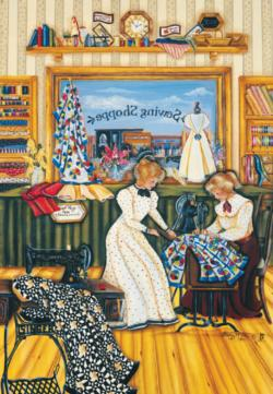The Sewing Lesson Nostalgic / Retro Jigsaw Puzzle