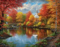 Autumn Tranquility Churches Large Piece