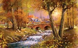 Bridge over the Stream Lakes / Rivers / Streams Jigsaw Puzzle