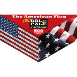 The American Flag Flags Triangular Puzzle Box