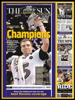 Baltimore Ravens - 2012 Super Bowl Champions Magazines and Newspapers Jigsaw Puzzle