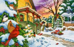 Winter Evening Snow Jigsaw Puzzle
