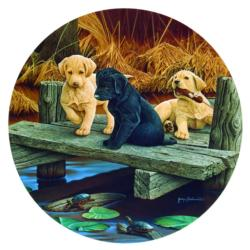 Puppies and Friends Lakes / Rivers / Streams Jigsaw Puzzle