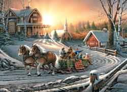 Pleasures of Winter (Terry Redlin Collection) Winter Jigsaw Puzzle