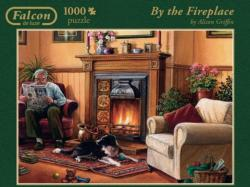 By the Fireplace Domestic Scene Jigsaw Puzzle