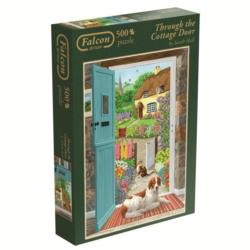 Through the Cottage Door Landscape Jigsaw Puzzle