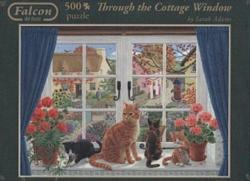 Through the Cottage Window Kittens Jigsaw Puzzle