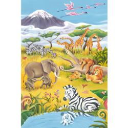 Animals of the Savannah Jungle Animals Children's Puzzles