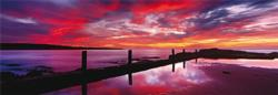 Eden Sea Baths - New South Wales, Australia - Scratch and Dent Sunrise/Sunset Jigsaw Puzzle