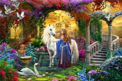 In the Fairy Garden Unicorns Jigsaw Puzzle