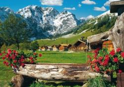At the Karwendel Massif Cottage/Cabin Jigsaw Puzzle