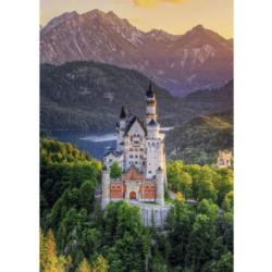 Romantic Neuschwanstein Castle Mountains Jigsaw Puzzle