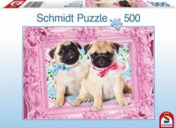 Pug and Puglet Collage Jigsaw Puzzle