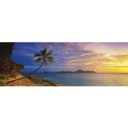 Tokoriki Island Sunset - Mamanuca Islands, Fiji Sunrise / Sunset Panoramic Puzzle