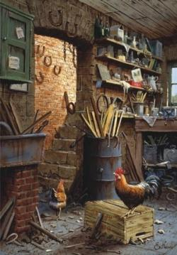 Workshop Chickens & Roosters Jigsaw Puzzle