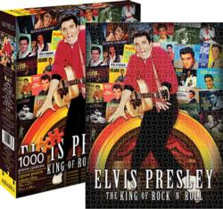 Elvis - Albums Collage Music Jigsaw Puzzle