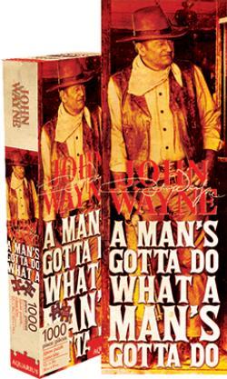 John Wayne - Quote Nostalgic / Retro Jigsaw Puzzle