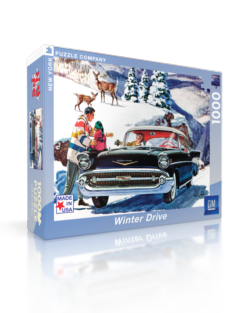 Winter Drive (General Motors) Americana & Folk Art Jigsaw Puzzle