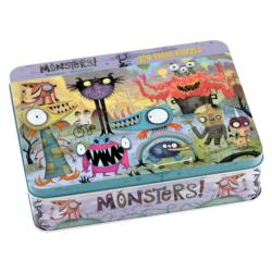 Monsters 100 Piece Puzzle Tin Cartoons Tin Packaging