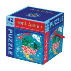 North America 42 Piece Puzzle United States Children's Puzzles