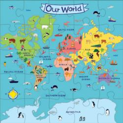 Our World Jumbo Puzzle Maps Children's Puzzles