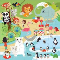At the Zoo Animals Jumbo / Chunky / Peg Puzzle