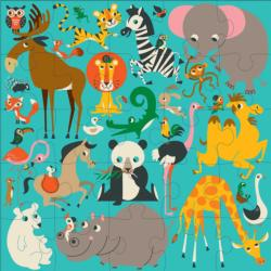 Animals of the World Elephants Floor Puzzle