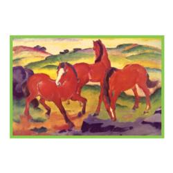Franz Marc Grazing Horses IV Horses Tin Packaging