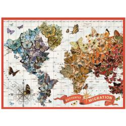 Wendy Gold Butterfly Migration Jigsaw Puzzle
