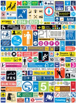 Transit Graphics Collage Jigsaw Puzzle