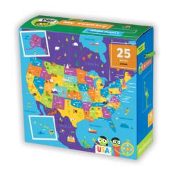 PBSA Kids My Country Jumbo Puzzle Maps Large Piece