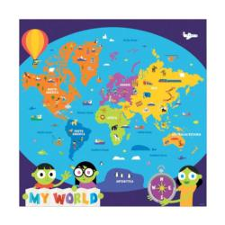 PBS Kids My World Jumbo Puzzle Maps Children's Puzzles