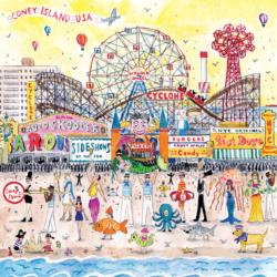 Summer at the Amusement Park Cartoons Jigsaw Puzzle