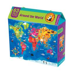 Around the World 63 Piece Puzzle Maps Children's Puzzles