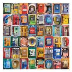 Telephones Collage Jigsaw Puzzle