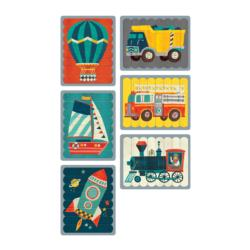 Transportation Puzzle Sticks Vehicles Double Sided