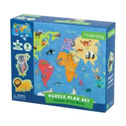 Animals of the World Puzzle Play Set Animals Children's Puzzles