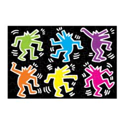 Keith Haring Glow in the Dark Puzzle Contemporary & Modern Art Jigsaw Puzzle