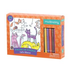 Cats Meow Color in Puzzle Cats Children's Coloring Books - Pads - or Puzzles