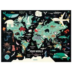 Map of the World 1000 Piece Family Puzzle Maps / Geography Jigsaw Puzzle