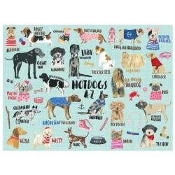 Hot Dogs A-Z 1000 Piece Puzzle Dogs Jigsaw Puzzle