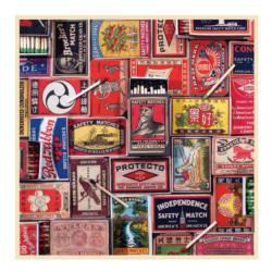 Vintage Matchboxes Collage Jigsaw Puzzle